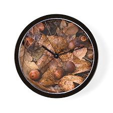 Gary Oak Leaves Wall Clock