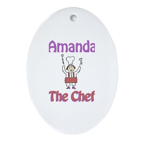 Amanda - The Chef Oval Ornament