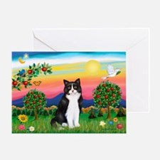 Bright Country / (B&W) Cat Greeting Card