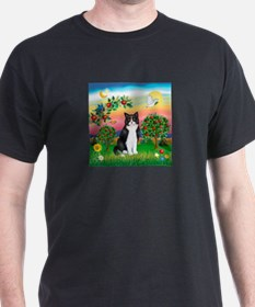 Bright Country / (B&W) Cat T-Shirt
