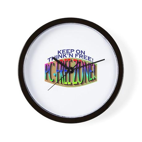 PC-FREE ZONE Wall Clock