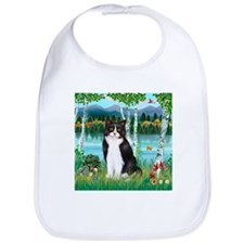 Birches / (B&W) Cat Bib