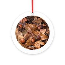 Gary Oak Leaves Ornament (Round)
