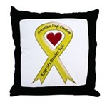 Military Brother Yellow Ribbo Throw Pillow