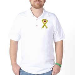 Military Brother Yellow Ribbon Golf Shirt
