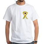 Military Brother Yellow Ribbon White T-Shirt