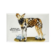 African Wild Dog Rectangle Magnet