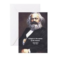 Karl Marx Religion Opiate Masses Greeting Cards (P