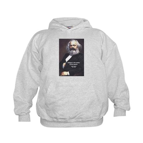 Karl Marx Religion Opiate Masses Kids Hoodie
