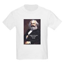 Karl Marx Religion Opiate Masses Kids T-Shirt