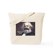 Karl Marx Religion Opiate Masses Tote Bag