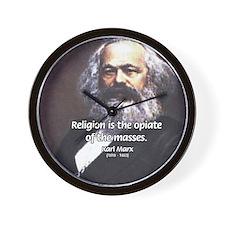 Karl Marx Religion Opiate Masses Wall Clock
