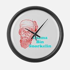Osama Bin Snorkelin Large Wall Clock