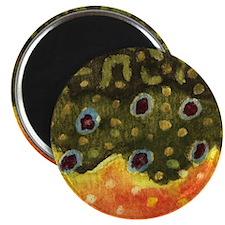 "Brook Trout Skin 2.25"" Magnet (10 pack)"
