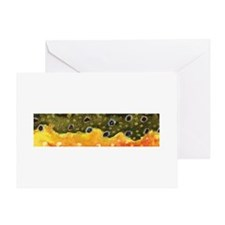 Brook Trout Skin Greeting Card
