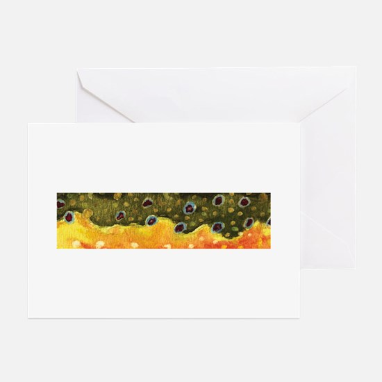 Brook Trout Skin Greeting Cards (Pk of 10)