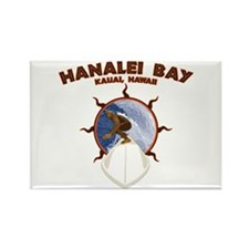 hanalei bay hawaii Rectangle Magnet