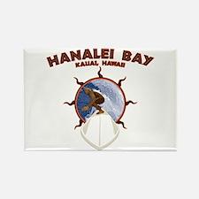 hanalei bay hawaii Rectangle Magnet