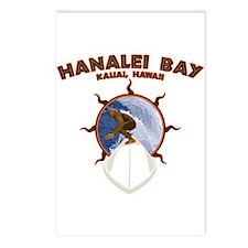 hanalei bay hawaii Postcards (Package of 8)