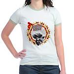 Octagon Addict MMA Girls Ringer Shirt