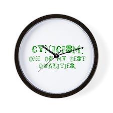 Cynicism Wall Clock