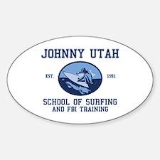 johnny utah surfing school Oval Decal