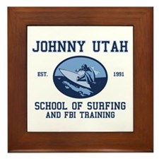 johnny utah surfing school Framed Tile