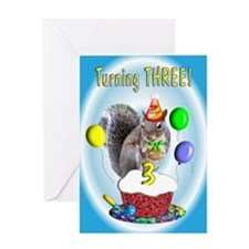 Boy 3rd Birthday Greeting Card