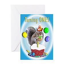 Boy 1st Birthday Greeting Card