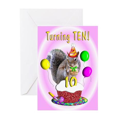Girl 10th Birthday Greeting Card