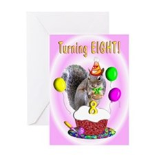 Girl 8th Birthday Greeting Card