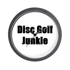 Disc Golf Junkie Wall Clock