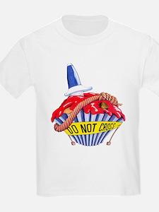 Crime Scene Cupcake T-Shirt