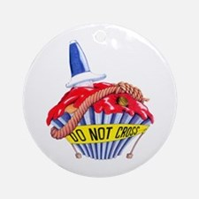 Crime Scene Cupcake Ornament (Round)