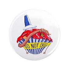 """Crime Scene Cupcake 3.5"""" Button (100 pack)"""