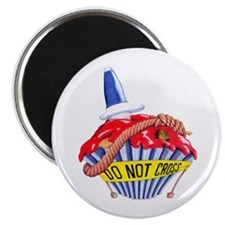 "Crime Scene Cupcake 2.25"" Magnet (10 pack)"
