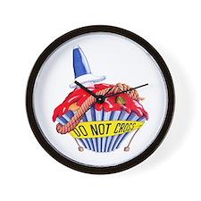 Crime Scene Cupcake Wall Clock