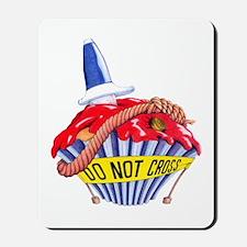 Crime Scene Cupcake Mousepad