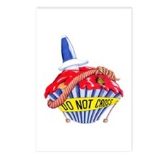 Crime Scene Cupcake Postcards (Package of 8)