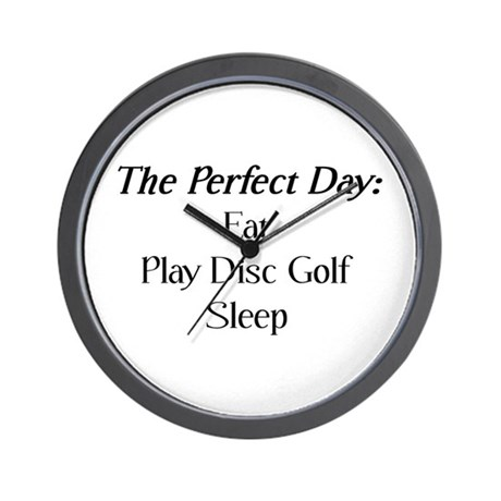 Perfect Disc Golf Wall Clock