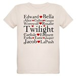 Twilight Hearts Collage Organic Kids T-Shirt