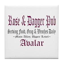 Rose & Dagger Pub Tile Coaster