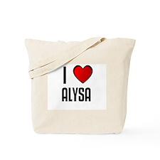 I LOVE ALYSA Tote Bag