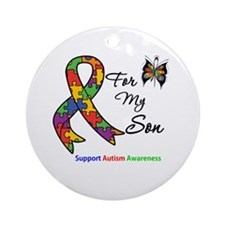 Autism Support Son Ornament (Round)