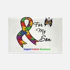 Autism Support Son Rectangle Magnet (10 pack)