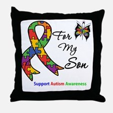 Autism Support Son Throw Pillow