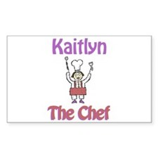 Kaitlyn - The Chef Rectangle Decal