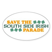 Save The South Side Irish Parade Oval Decal