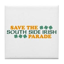 Save The South Side Irish Parade Tile Coaster