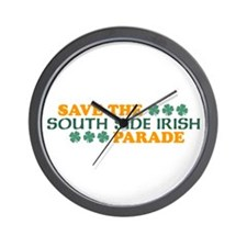 Save The South Side Irish Parade Wall Clock